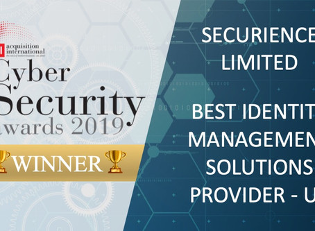 "Securience named ""Best Identity Management Solutions Provider - UK"""