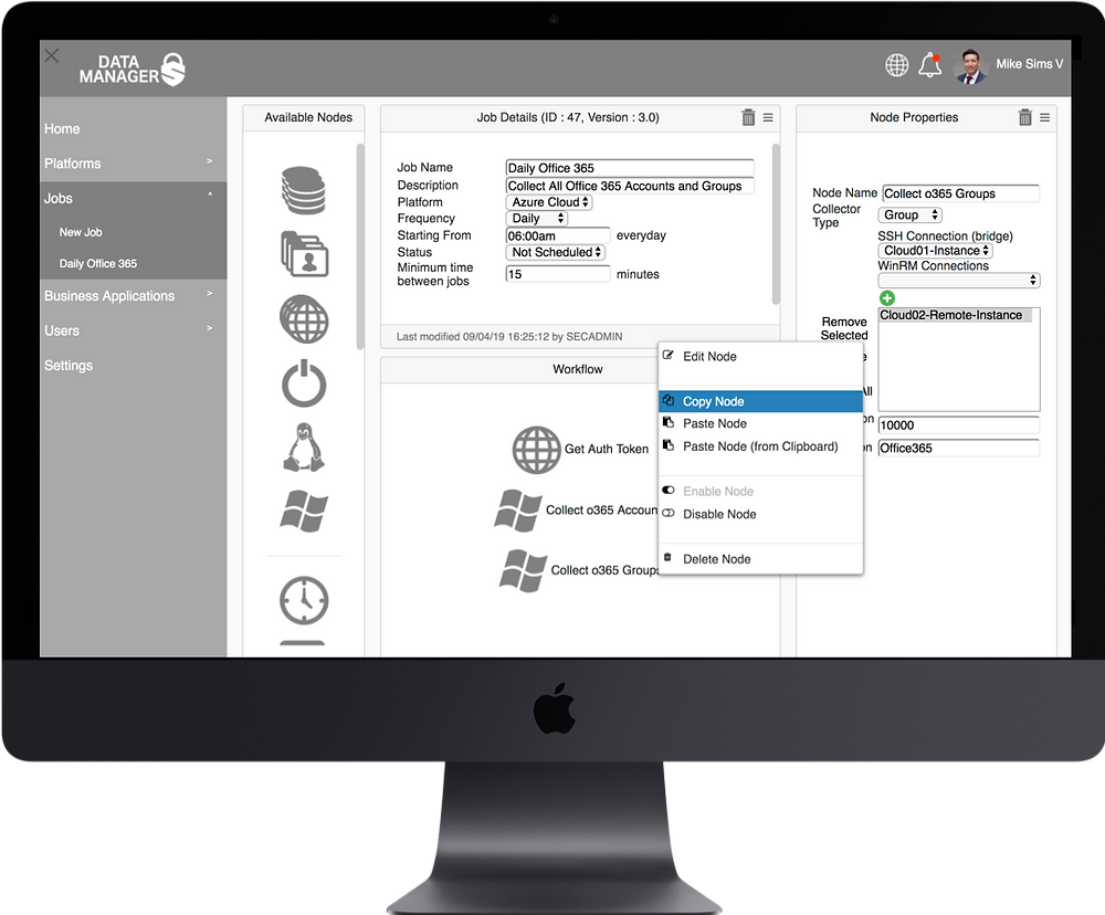 Securience Data Manager Integration Workspace