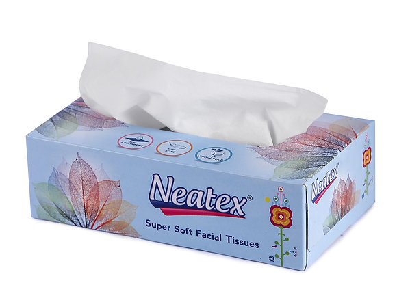 Neatex Facial Tissue - 2Ply 100 Pulls - Pack of 10