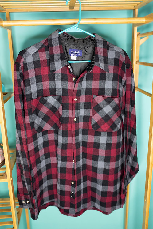 Plaid for you -- red/grey flannel