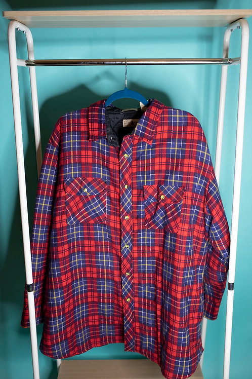 Campfire Cozies  - Red & blue Plaid Shacket