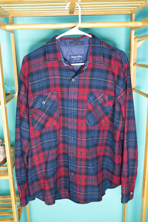 Plaid for you -- red/blue flannel