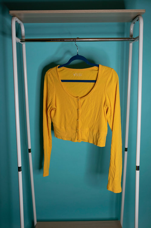 Mellow Yellow Cropped Cardigan