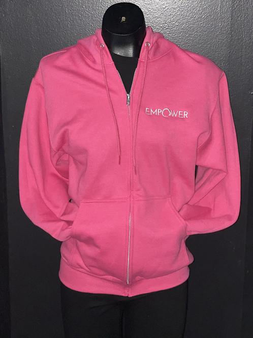 Pink Zip Up Empower Hoodie