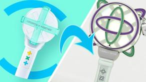 O design que um fã fez do lightstick do TXT é tão impressionante que foi confundido com a 2ª versão