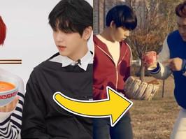 Yeonjun (TXT) fez a versão de 2021 da sua cena icônica no comercial Jin Ramen, gravado no pré debut