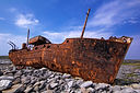 freight vessel was shipwrecked during a