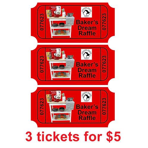 Baker's Dream Package: 3 Raffle Tickets
