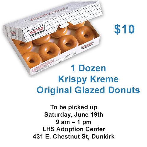 1 Dozen Krispy Kreme Donuts