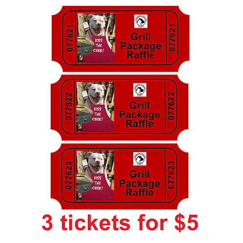 Grill Package: 3 Raffle Tickets