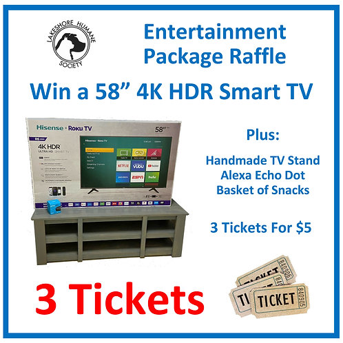 Entertainment Package: 3 Raffle Tickets