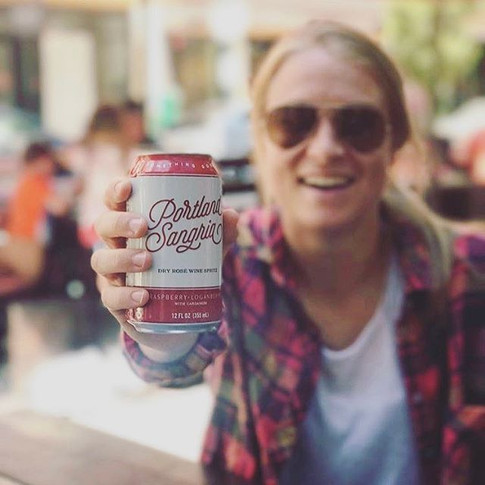 Oh hey! That's our girl Emily Sonnett, pro soccer player from the Portland Thorns FC, kicking it with a can of Portland Sangria.jpg