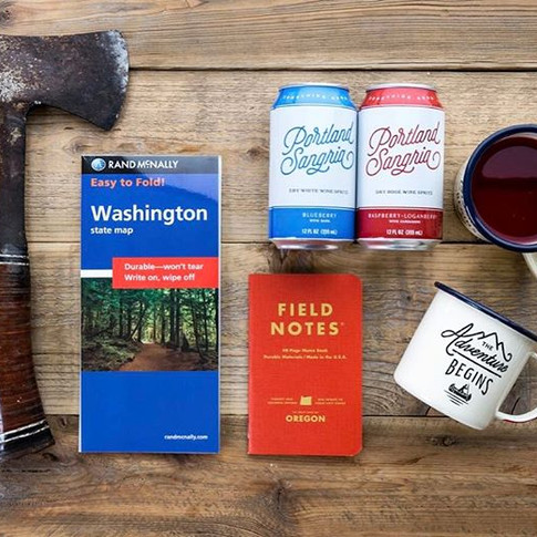 Let the weekend adventures begin! 🏕⛰🛶_•_•_•_•_•_#pnw #pnwexplorer #explorepnw #upperleftusa #weekendgoals #winelovers #wine #cannedwine #foo