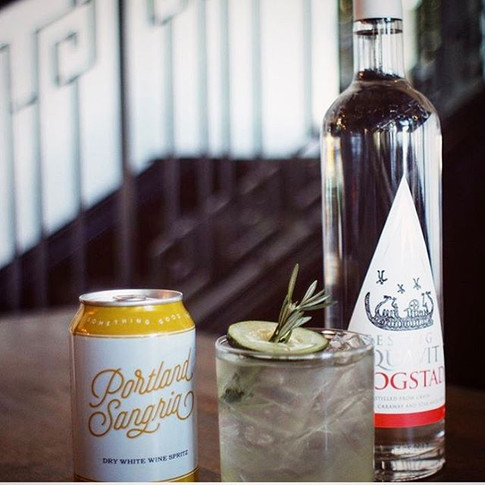 Is it happy hour yet_! Our friends at House Spirits Distillery dreamed up this delicious cooler with our Lemon-Ginger-Rosemary and their Aqu
