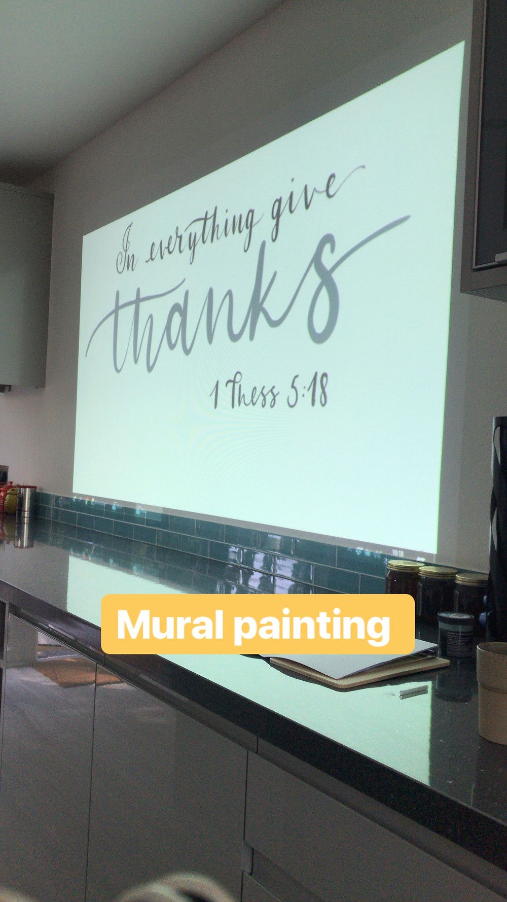 Projecting artwork pre-painting