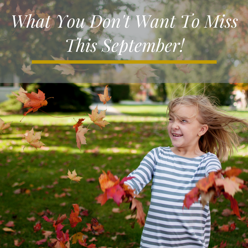 What you don't want to miss this September