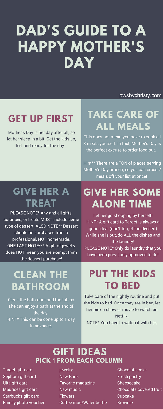 Dad's Guide to a Happy Mother's Day