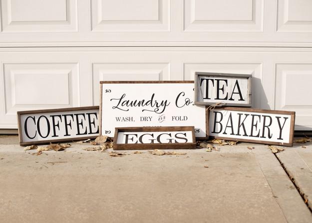 Custom farmhouse signs