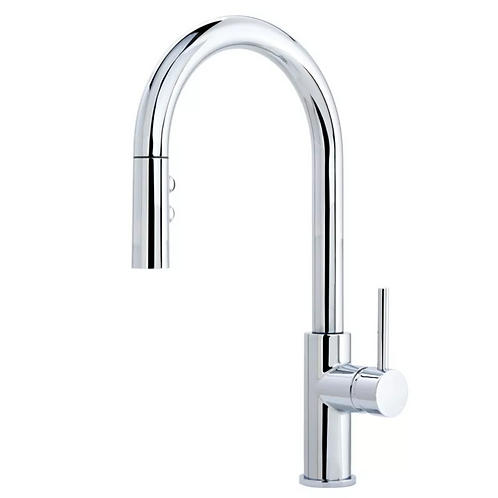 Chrome - Sink Faucet with Pull Out Head