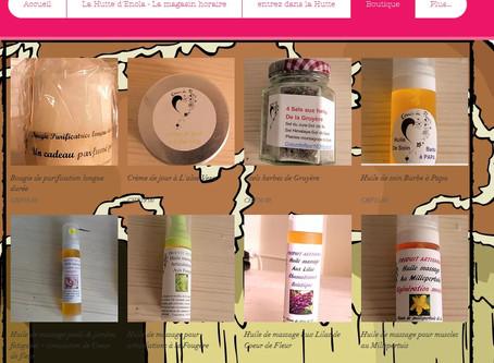 Nos produits en ligne dans la Hutte d'Enola