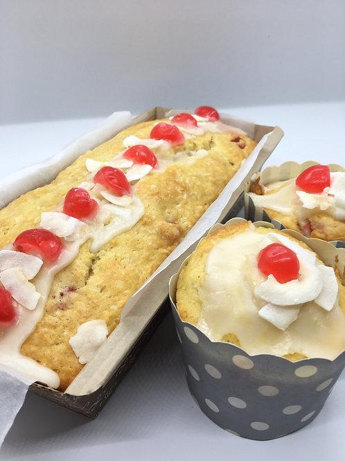 Cherry & Walnut Eggnog Cake - 1 loaf