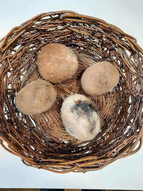 Felted Wool Dryer Balls - set of 4