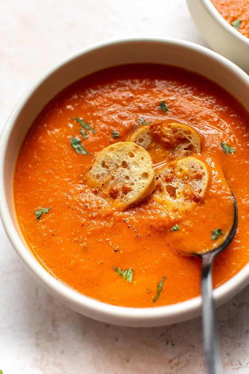 Tomato-Garlic Soup (vegan) - 1 quart