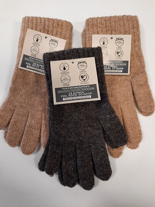 Women's Alpaca Wool Gloves - choose size and color