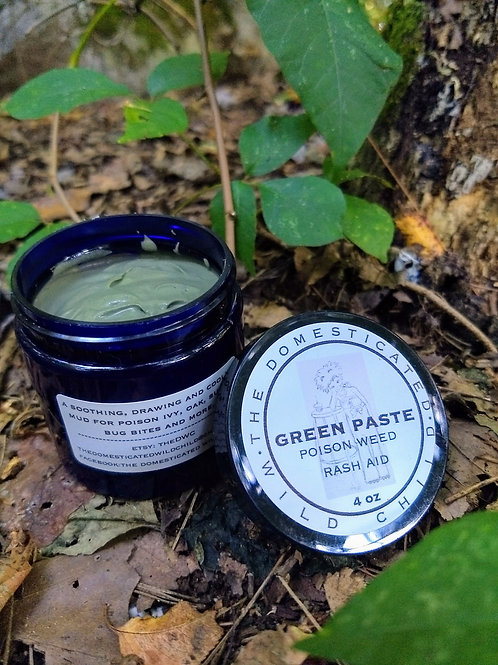 Green Paste Poison Weed Rash Treatment - choose size
