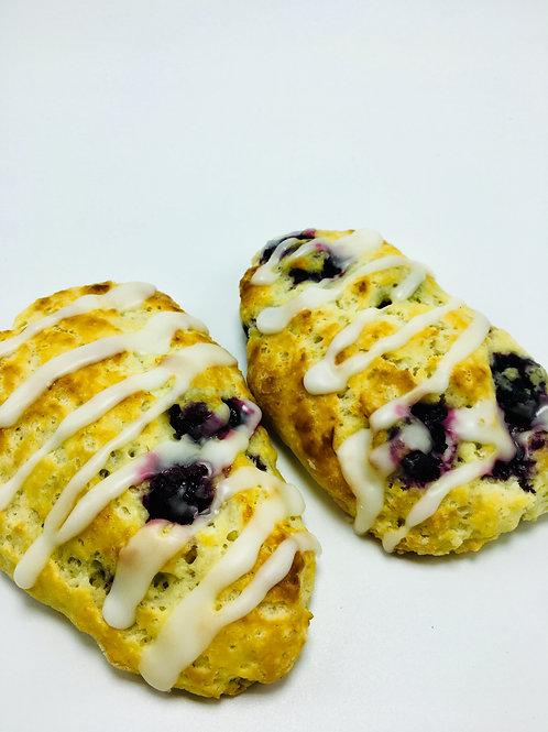 Fresh Baked Lemon Blueberry Scones - 6 scones