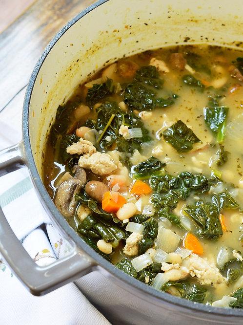 Turkey, White Bean & Kale Soup - 1 quart