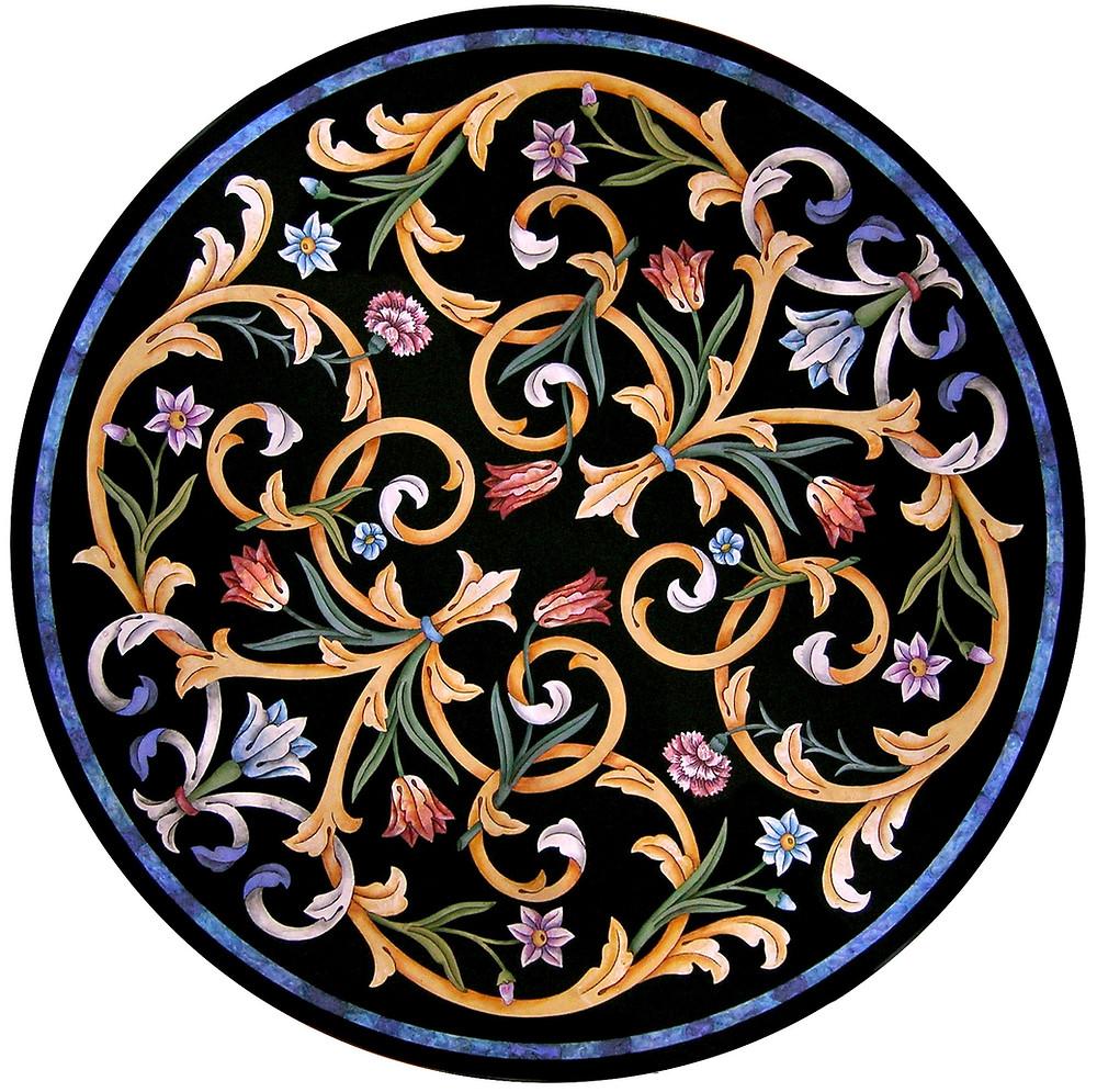 Italian scagliola marble table top