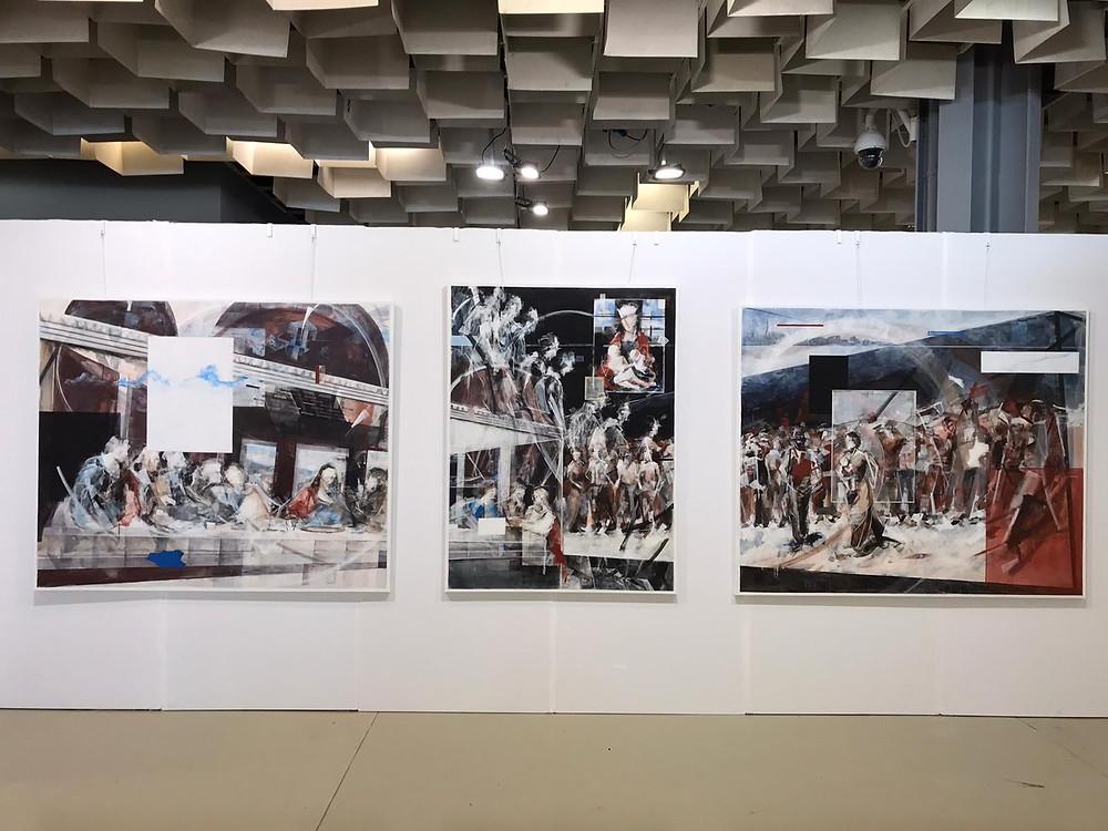 Drieluik Wessel Huisman Biennale Florence 2019
