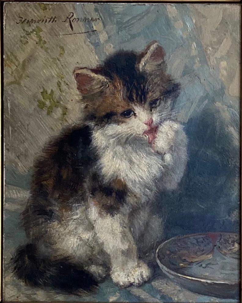 Kitten door Henriëtte Ronner in prachtige goudvergulde lijst