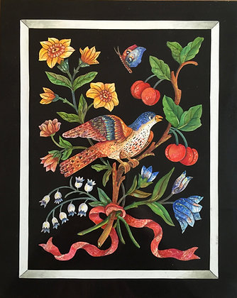 Scagliola Bird