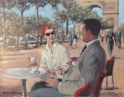 Café dans les Champs Elysees.