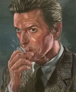 Bowie smoking.