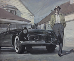 Sinatra and his car.