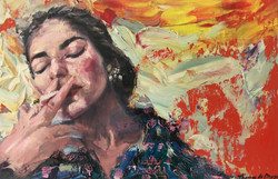 Smoking. Marie Callas.