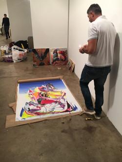 Installing, Clio Art Fair, NY 2017