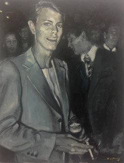 Bowie at a party.