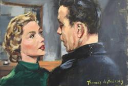 Gloria Grahame and Humphrey Bogart.