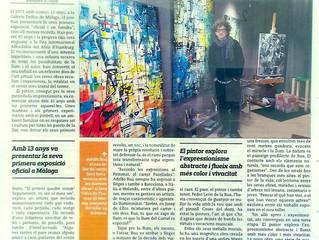 Adolfo Rua in the L'Eco de Sitges (in Catalan)