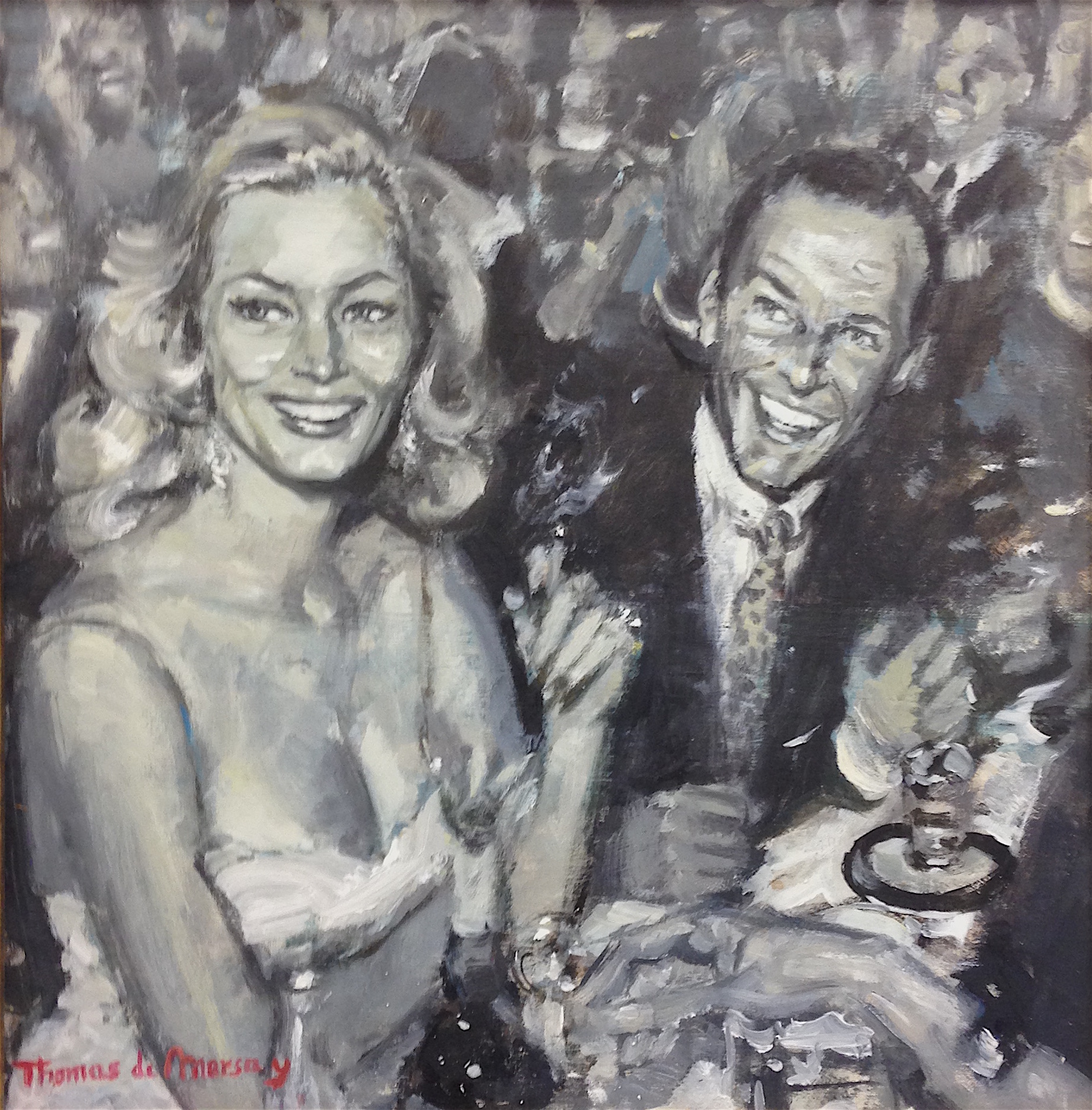 Frank Sinatra and Anita Eckberg.