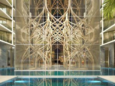 Viceroy Dubai Wood Sculpture