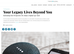 Thrive Global: Your Legacy Lives Beyond You