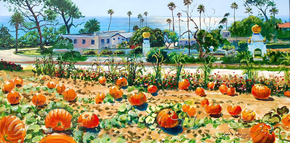 "Swami's Pumpkin Patch 8""x 16"""