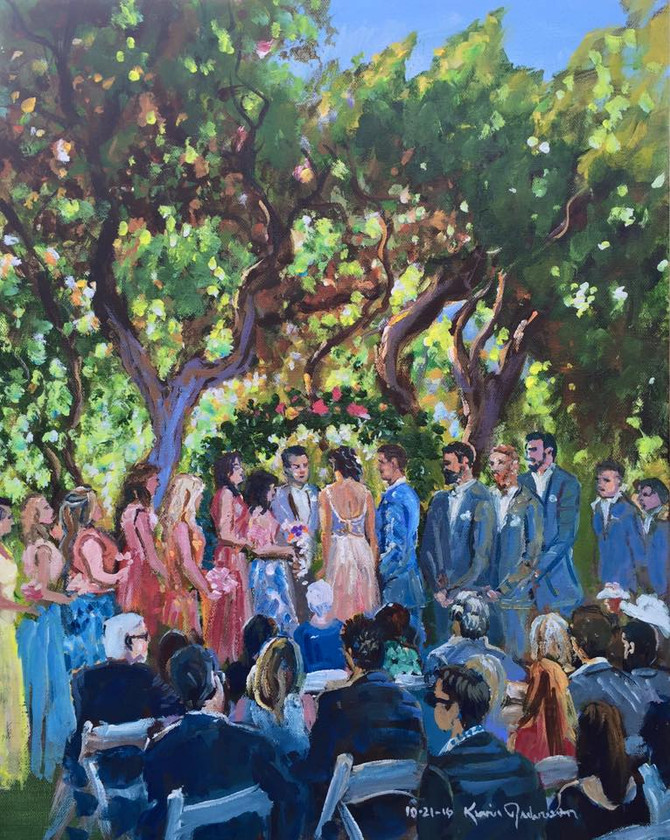 Live Painting Is the New Wedding Reception Trend...