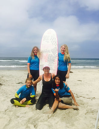 Girl Surf Power in Del Mar