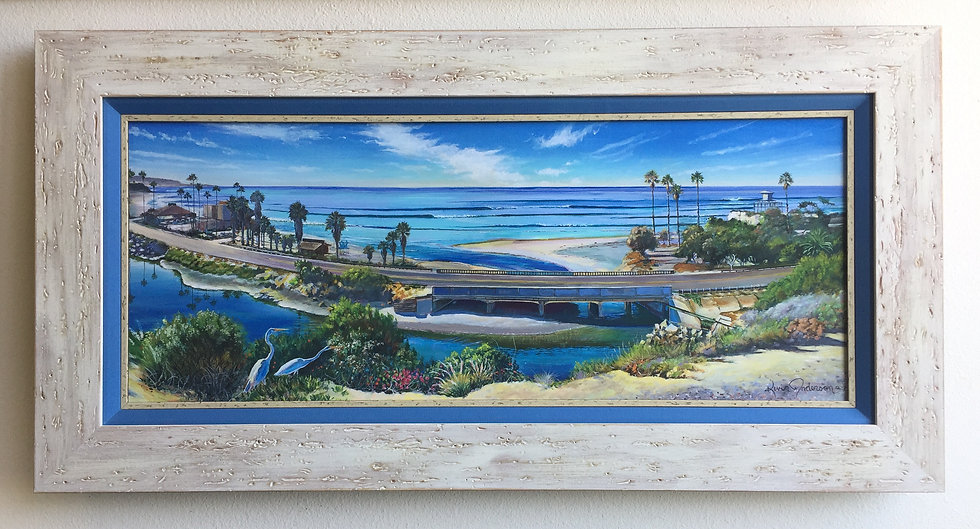 Cardiff-by-the-Sea with Custom Frame